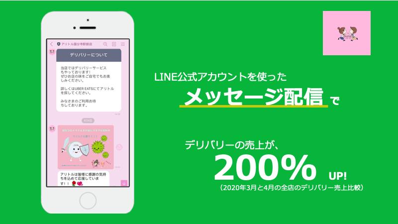 LINE 飲食店 活用 アリトル